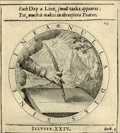 George Wither. El lema que también emplearon Goya y Saura