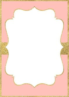 Pink And Gold Invitations Free Ballerina Birthday, Princess Birthday, Girl Birthday, 13th Birthday Invitations, Baby Shower Invitations, Pink And Gold Invitations, Baby Frame, Invitation Background, Minnie Mouse Pink