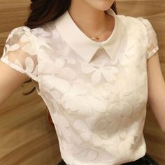 women blouse spring new 2014 Blouse Styles, Blouse Designs, Casual Outfits, Cute Outfits, Cute Blouses, Cute Tops, Dress Patterns, Ideias Fashion, Fashion Dresses