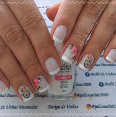 Unhas românticas passo a passo Manicure And Pedicure, Hair And Nails, Nail Designs, Lily, Nail Art, Rose, Beauty, Montenegro, Veronica