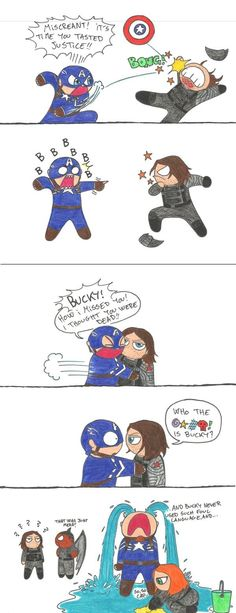 Canonically Bucky has a pretty filthy mouth but this is funny.