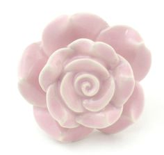 Set/1Pc Light Pink Rose Ceramic Cabinet Knobs Drawer Pulls & Handles - K38 - Knobs
