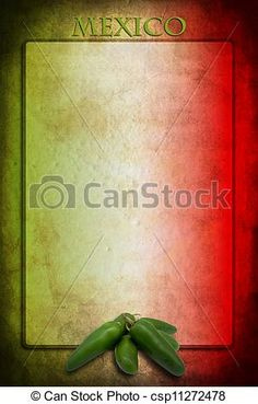 Mexican flag with jalapeno - csp11272478