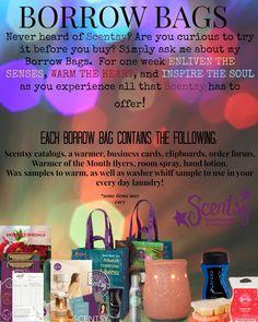 Scentsy Borrow Bags  #scentsbykris