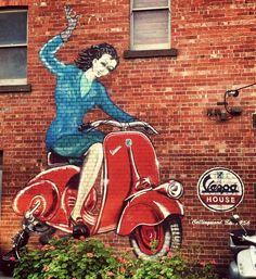 Murales in Melbourne #Vespa #Piaggio