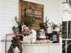 smores and hot cocoa party invitation | Christmas Decorations for Your Front Porch