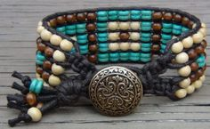 Fantastic Multi-Row Wrapped Bead Bracelet Tutorials by Alesha (Beadiful Nights)