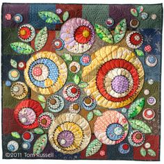 Scrapbag Bouquet« Tom Russell Quilts ...gorgeous quilt ... concentric circles ...