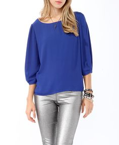 Textured 3/4 Sleeve Blouse | FOREVER21