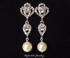 Vintage Style Wedding Bridal earrings by nefertitijewelry2009, $44.00