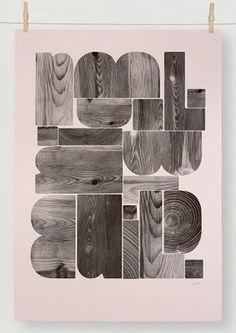 I love seeing wood being the positive instead of the negative space in this design.