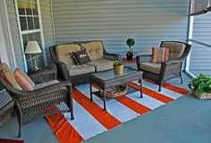 Be Different...Act Normal: Drop Cloth Outdoor Rug