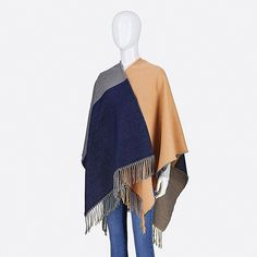WOMEN COLORBLOCK 2-WAY STOLE, BEIGE Uniqlo