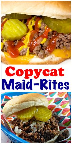 Maid-Rites are an Iowa specialty that I've eaten since I was 3 years old. (The Iowa Specialty! Iowa, Healthy Meat Recipes, Crockpot Recipes, Chicken Recipes, Healthy Food, Maidrites Recipe, Loose Meat Sandwiches, Recipe For Maid Rite Sandwiches, Made Right Sandwich Recipe