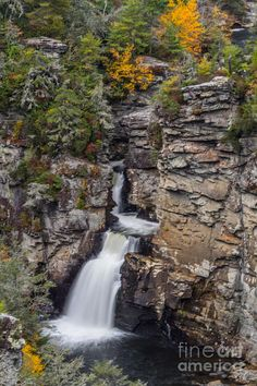 Linville Lower Falls, waterfalls located in the Blue Ridge Mountains, Burke County, North