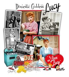 """I Love Lucy"" by gracekathryn ❤ liked on Polyvore"