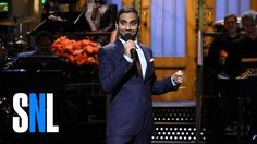 On Saturday night, comedian Aziz Ansari joined Saturday Night Live as the first host of Donald Trump's presidency — as well as the first host of South Asian descent in the comedy show's history. And when Ansari took the stage for his opening… Saturday Night Live, Aziz Ansari Stand Up, Mother Jones, Funny People, Angry People, Stand Up Comedy, Big Sean, Monologues