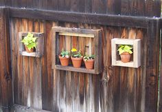 Old wood upcycle, Fence display tutorial