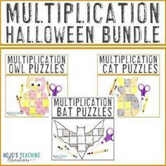 MULTIPLICATION Halloween Math Riddles - 12 different puzzles to choose from! |  3rd, 4th, 5th grade, Activities, Basic Operations, Games, Halloween, Homeschool, Math, Math Centers