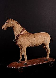 Rare French Antique Toy Horse, circa 1880