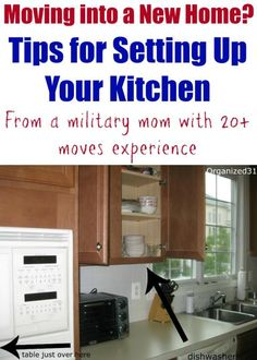 Moving into a New Home? How to Set Up Your Kitchen Moving into a New Home & How to Set Up Your Kitchen - Organized 31 Moving Day, Moving Tips, Moving House, Moving Hacks, Moving Checklist, Kitchen Organization, Organization Hacks, Organized Kitchen, Household Organization