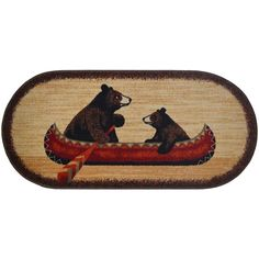 Black Bear Decor, Black Forest Decor, Oval Rugs, Cozy Cabin, Cozy House, Accent Rugs, Canoe, Blue Area Rugs