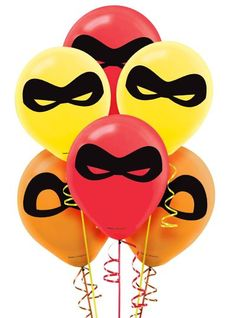 Take the party from average to super with these Incredibles 2 Balloons! Made of latex, these balloons come in three colors and feature black mask prints. Incredibles Birthday Party, Disney Frozen Birthday, Superhero Birthday Party, 4th Birthday Parties, Birthday Party Decorations, Boy Birthday, Cake Birthday, Birthday Ideas, Pawer Rangers