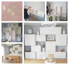 versatile ikea besta - could mix with the concrete doors and put gold/copper accents / white and gold /copper lampshade (would go with table) Ikea Bedroom Storage, Ikea Storage, Ikea Units, Ikea Inspiration, Ikea Wall, Ikea Living Room, Ikea Furniture, Living Room Designs, Decoration