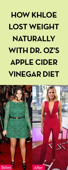 How Khloe Lost Weight Naturally with Dr. Oz's Apple Cider Vinegar Diet