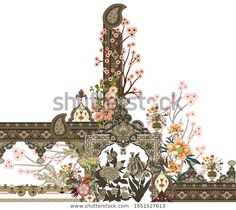 Design Elements, Design Art, Print Design, Textiles, Fashion Design Sketches, Botanical Flowers, Colorful Drawings, Border Design, Textile Design