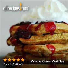 Whole Grain Waffles from Allrecipes.com #myplate #grain #wholegrain