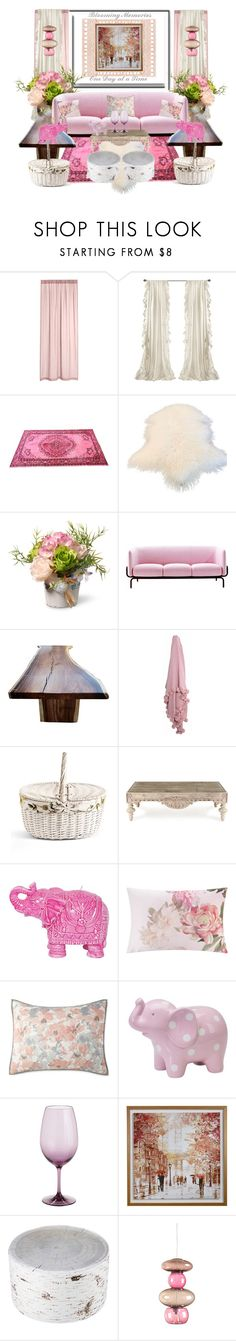 """Pink Elephants"" by jndskiddo ❤ liked on Polyvore featuring interior, interiors, interior design, home, home decor, interior decorating, National Tree Company, MOROSO, Asian Art Imports and Mario Luca Giusti"