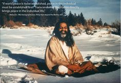 Peace within radiates out Maharishi Mahesh Yogi, Tupac Quotes, Types Of Meditation, World Peace, Art Of Living, Mystery, Spirituality, Yoga, General Motors
