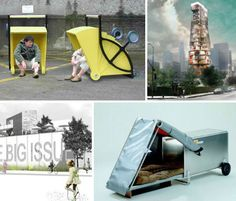 14 designs for homeless housing, whether simply meeting the immediate needs of people who live on the streets or providing a more long-term, forward-thinking transitional living spaces provoke thought as to how we can meet the needs of disadvantaged people living in our own communities, and ensure that the situation is only temporary.