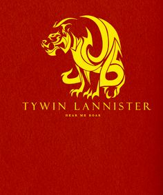 Lord Tywin Lannister, patriarch of the richest family in Westeros - (A Game of Thrones) - personal sigil.
