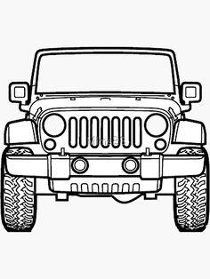 'Purple Clouds Jeep' Sticker by Green Jeep, Blue Jeep, Cute Disney Drawings, Cute Drawings, Jeep Drawing, Jeep Tattoo, Jeep Stickers, Badass Jeep, Jeep Cherokee Xj