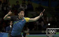 日本卓球界をけん引し続けたエースは、リードされても動じることなく自分のプレーを貫いた【写真:ロイター/アフロ】