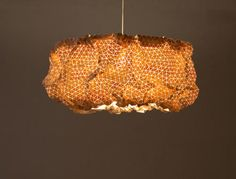 miss maple lamp made from wooden textile • elisa strozyk • via design milk