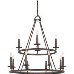 Loon Peak Bedford 12 Light Candle-Style Chandelier