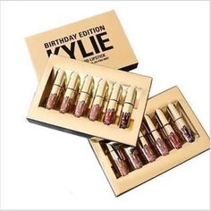 6PCS Kylie Jenner Limited Birthday Edition Lip Kit Lipstick & Liner Gloss Matte  #Unbranded
