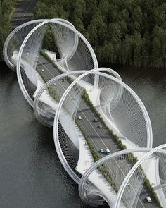 Architecture firm Penda and engineering firm Arup have teamed up to undertake the ambitious goal of redesigning the suspension bridge, with their newly commissioned project to build the San Shan Bridge in China. // Get to know more Architecture Projects > Cultural Architecture, Blog Architecture, Cabinet D Architecture, Baroque Architecture, Futuristic Architecture, Beautiful Architecture, Landscape Architecture, Bridges Architecture, Infrastructure Architecture