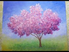 Easy Impressionist Cherry Blossom Tree | Live Full Acrylic Painting Lesson | #ColoroftheYearArt - YouTube
