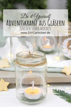 Diy Recycling, Candle Holders, Xmas, Candles, Table Decorations, Creative, Fun, Wreaths, Inspiration