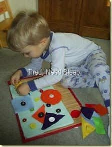 This looks like it would be challenging for some of my kiddos. A buttoning board!