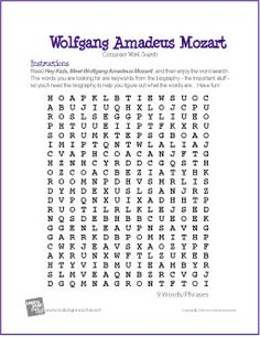 Ludwig van Beethoven Biography with online crossword puzzles, word ...