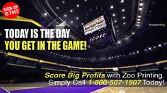 If you continue to worry about the risk of failure or success you'll never get into the game. Sign-up today and start scoring profits with your talent! Call 1-800-507-1907  Zoo Printing Wholesale Printing. Sign Up Free Today! http://zooprint.us/6ISkL #Printing #GraphicDesigners #WholesalePrinting #ZooPrinting @cavs ‏ @warriors @nba #nbafinals #theland #Oakland