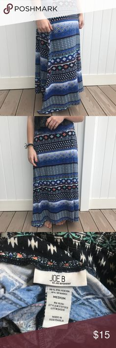 Aztec pattern skirt size medium Super cute mint green, white, black, pink, and blue skirt, can be worn casually or dressed up! Size medium, worn twice. Joe B Skirts Maxi