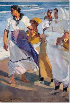 Valencian Fisherwomen by Joaquin Sorolla y Bastida