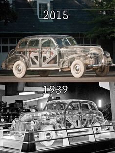 """The 1939 Pontiac Deluxe Six Ghost Car was not your average vehicle. While many automobiles had bodies made from metal, Pontiac decided to go a different route with this particular car. They collaborated with the chemical company Rohm & Haas, who had just developed a new product called """"Plexiglas.""""   Read more here: http://www.mymodernmet.com/profiles/blogs/1939-pontiac-deluxe-six-ghost-car"""