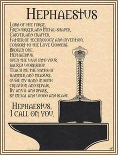 Hephaestus--patron of inventors, iron workers, sculptors, welders, woodworkers.